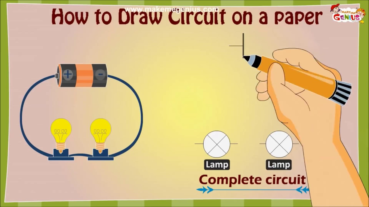 How to draw an electric circuit diagram for kids youtube how to draw an electric circuit diagram for kids ccuart Gallery