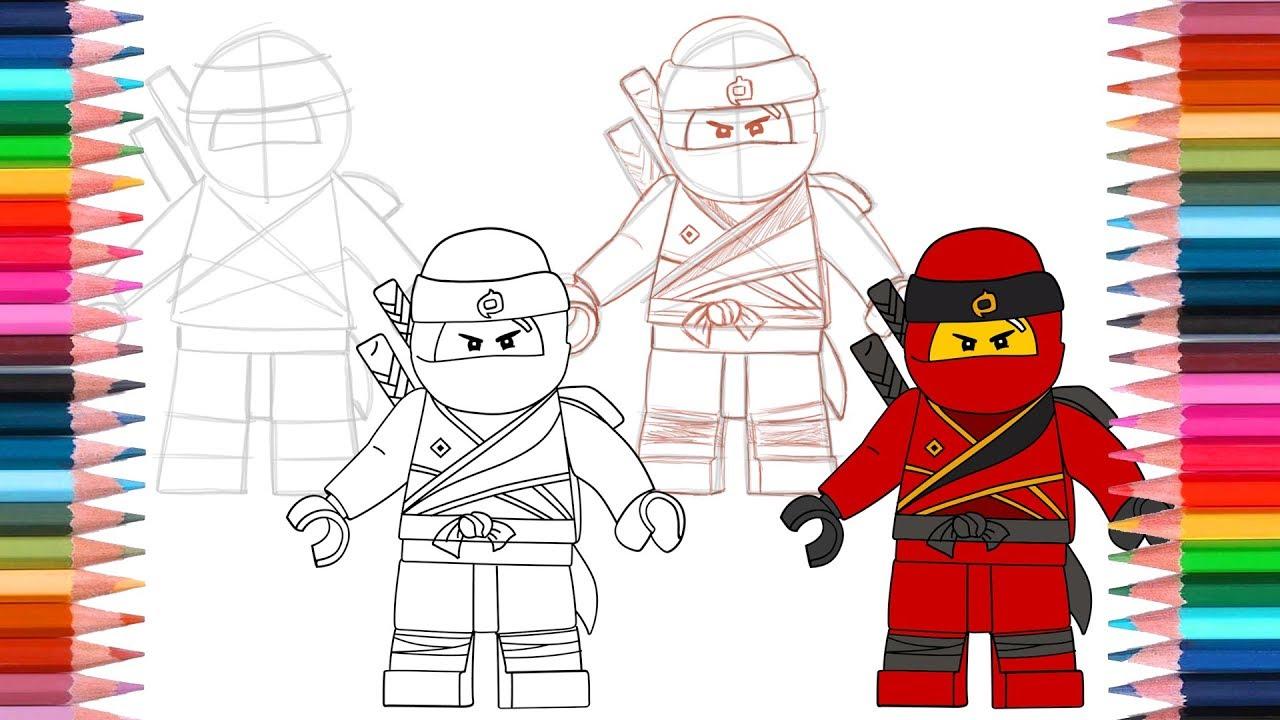 Desenhos Para Colorir De Lego Ninjago