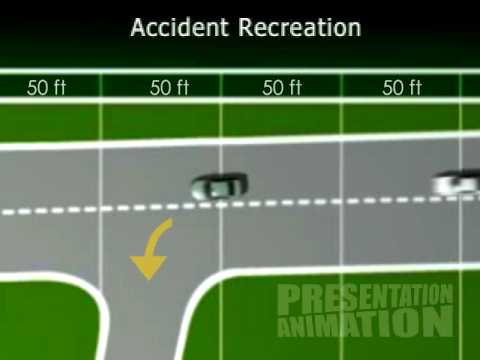 Courtroom graphic Car Accident Recreation - YouTube