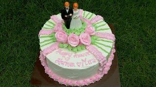 Tutorial cake annivesary |cake annivesary pernikahan