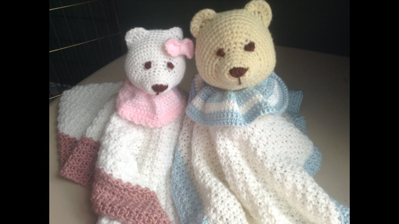 How to Crochet a Baby Blanket Stuffed Animal - Lovey Blanket - YouTube