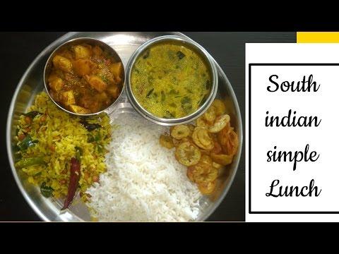 Veg Lunch Menu Recipes|Lunch Menu Recipes |30 Minutes Lunch Menu|simple South Indian Thali