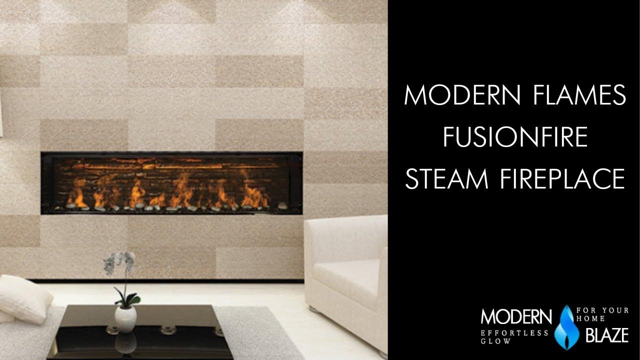 """Modern Flames 76"""" Water Vapor Fireplace - Fusion Fire ..."""