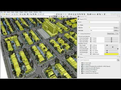 CityEngine Feature: 3D Land Use Zoning
