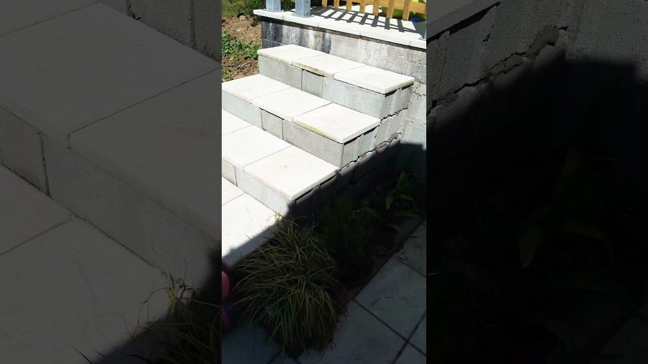Faire Un Escalier En Parpaing Youtube