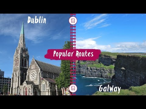 Interrail: Train route from Dublin to Galway