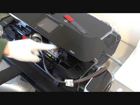 CISS installation for Canon MG6320 MG7120 MG6240, MG5520, MG5420, MG5422, MX922