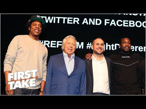 Jay-Z, Meek Mill, Robert Kraft and others come together for criminal justice reform | First Take Mp3