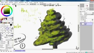 How to draw a tree leave with SAI