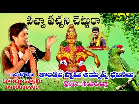 pachapachani chetturaa ayyappa song singing by kondala swamy karlapalem cell-9963888703