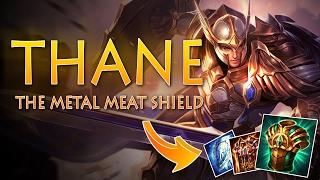 Strike of Kings: THE METAL MEAT SHIELD! Thane [PA/Tank Bot] Gameplay