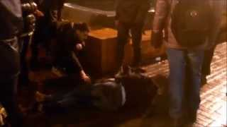 Saint Etienne injured fans after attack made by Dnipro + Dynamo Kiev 11.12.2014 (HD)