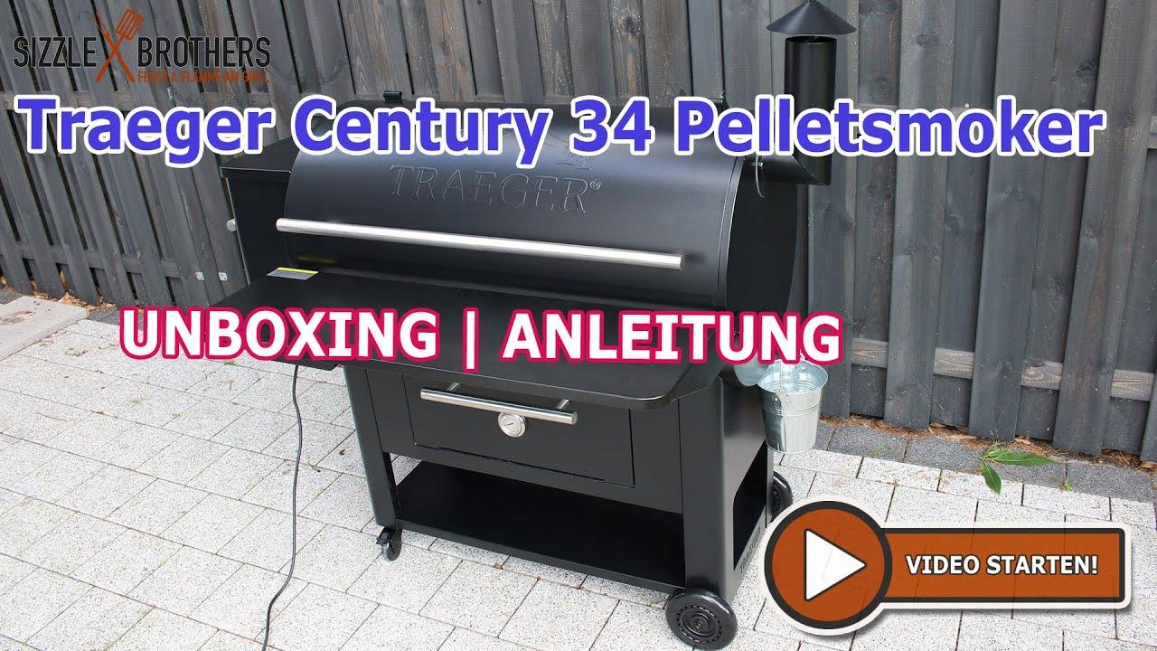 Traeger Century 34 - Pelletsmoker | Pelletgrill | Unboxing - Aufbau &  Anleitung