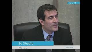 Ed Shadid's last council meeting