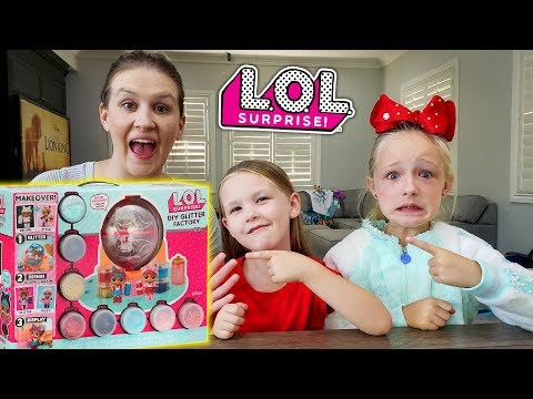 Opening LOL Glitter Factory Surprise With Our Mom! Huge Fail!!