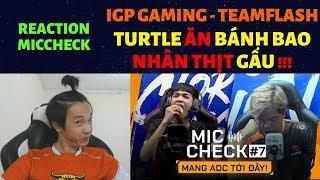 REACTION MICCHECK: TURTLE ĂN BÁNH BAO NHÂN THỊT GẤU !!! | TÙNG HỌA MI REACTION
