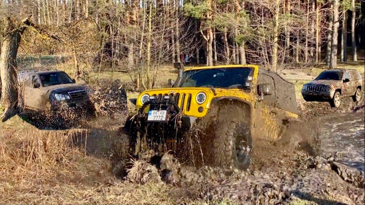 Угнали Lexus , Porsche ,Jeep и поехали на все бабки в грязь