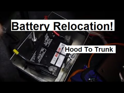 How To Battery Relocation To Trunk In Evo! - YouTube