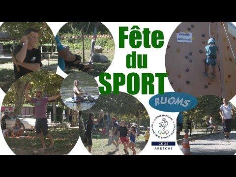 Actu'Sport   Fête du Sport à RUOMS avec le CDOS Ardèche