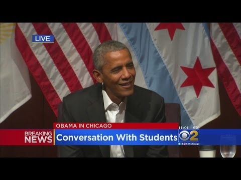 Former President Obama Speaks To Students About Leadership