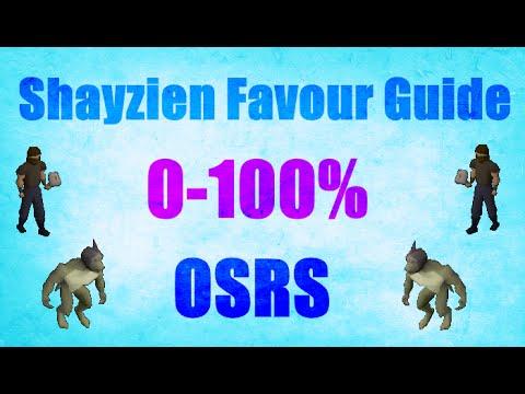Ultimate Shayzien Favour Guide 0-100% Oldschool Runescape 2007  (OSRS)