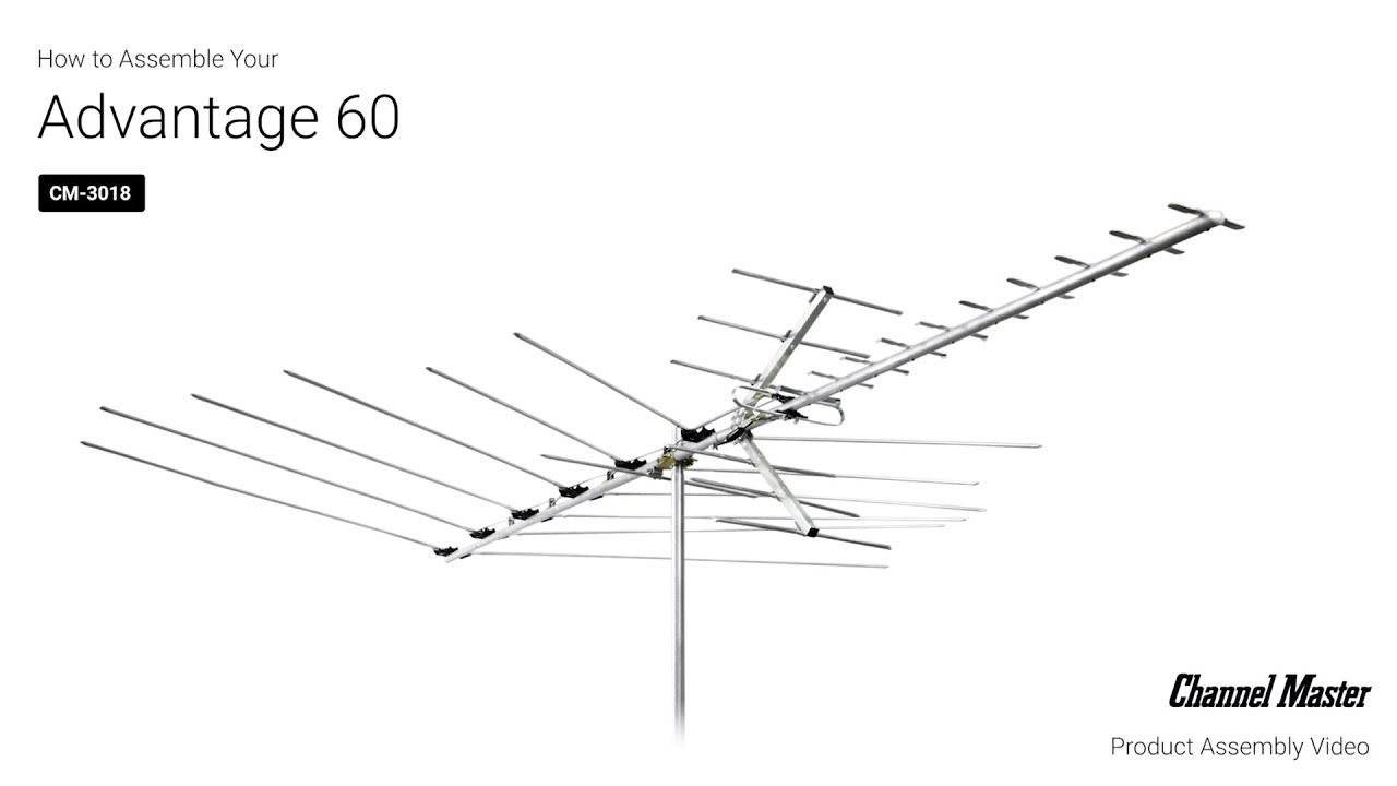 How to Assemble the Advantage 60 Outdoor TV Antenna [CM-3018]