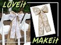 DIY Burlap & LACE Ready-Made Bow with Hook & Ties - Country Vintage Wedding Ideas