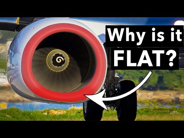 Why are the Boeing 737NG engines FLAT?