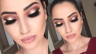 Thanksgiving Makeup Tutorial | Cranberry & Gold |