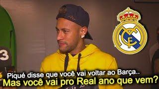 Neymar responde se vai se transferir pro Real Madri ano que vem