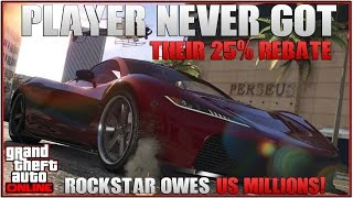 GTA 5 Online: Players Never Received their 25% Rebate? *After Patch* | (Rockstar Owes us Millions)