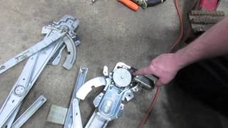 Repair Front Window Regulator And Window Motor On Discovery Series II video screen shot