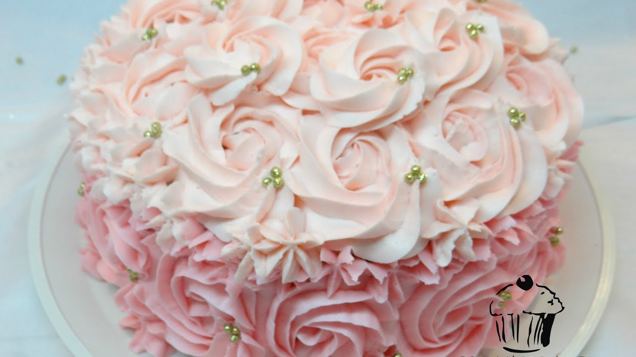 Como decorar un pastel de rosas glens cake youtube for Como decorar un bizcocho