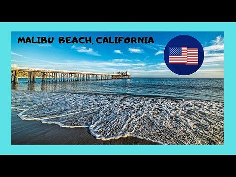 MALIBU BEACH: The MALIBU PIER in CALIFORNIA (USA)
