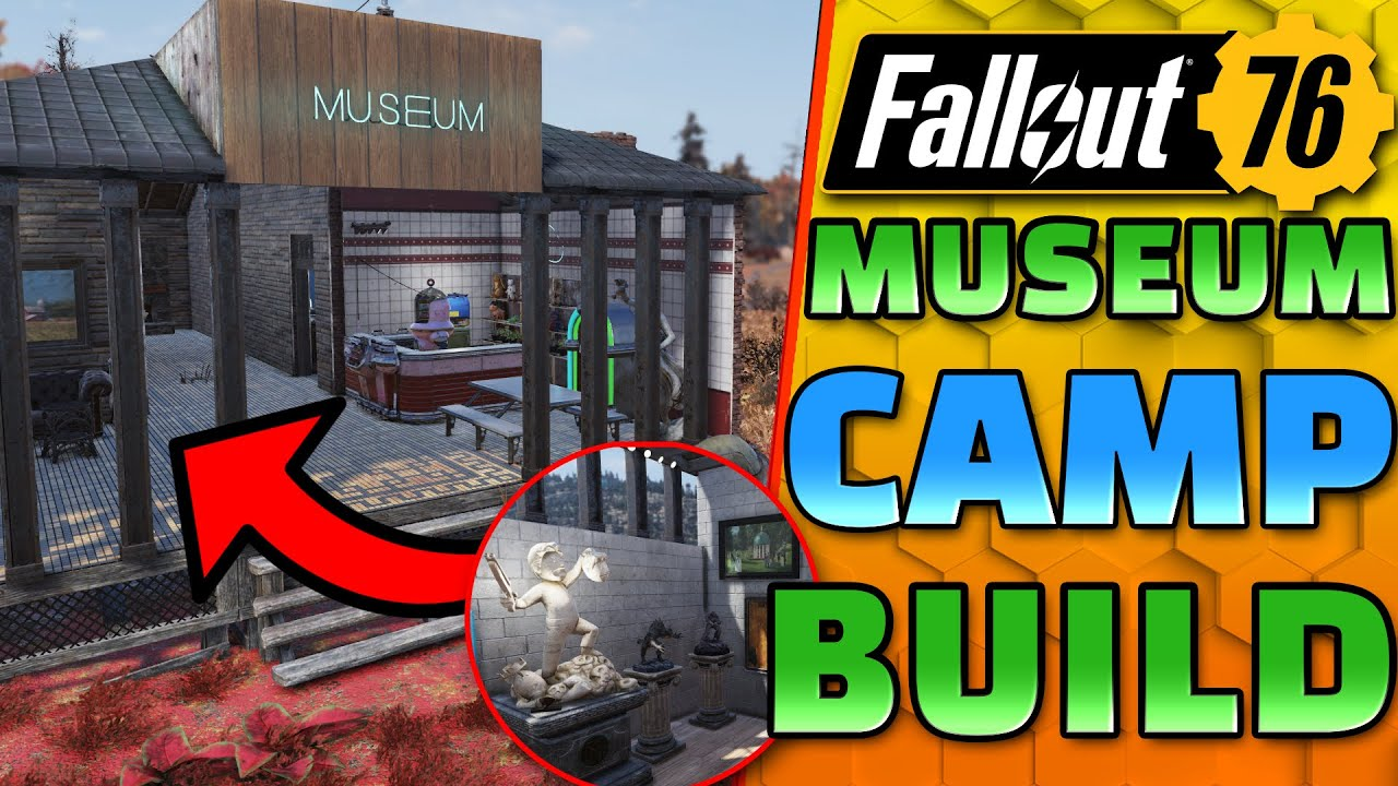 This FALLOUT museum CAMP is BEAUTIFUL! - Fallout 76 CAMP Building - One Wasteland