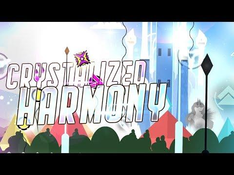 """Crystalized Harmony"" (Demon) by Reunomi, Zoroa GD & more | Geometry Dash 2.11"