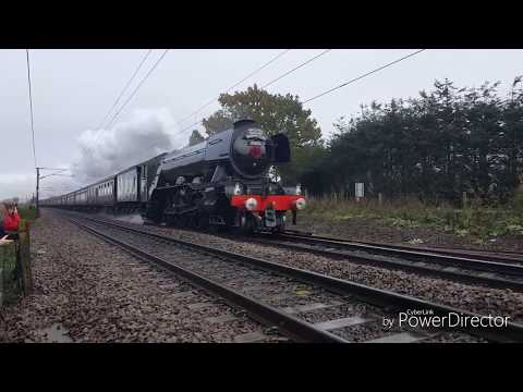 Flying Scotsman Cathedrals Express East Anglia 11/11/2017
