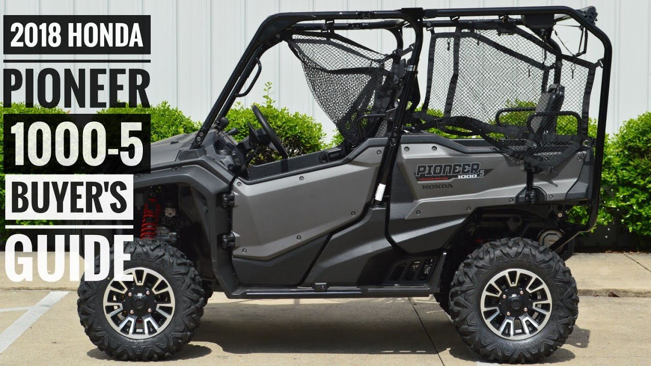 2018 honda pioneer 1000 5 model lineup explained differences utv side by side buyer 39 s. Black Bedroom Furniture Sets. Home Design Ideas