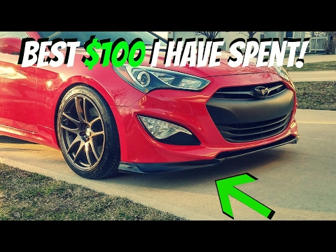 KS STYLE Front Lip Install Genesis Coupe