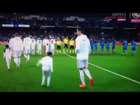 Little imitating Cristiano Ronaldo