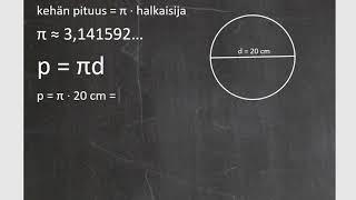 Kurssi 6: Yhtälöitä ja ympyröitä, osa8: Ympyrän kehän pituus