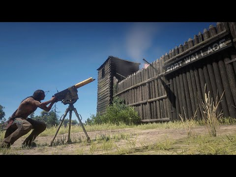 Native American Attacks FORT WALLACE in Red Dead Redemption 2 |