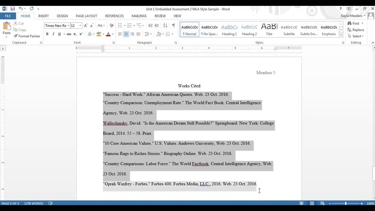 how to format mla works cited The works cited section of your paper should list all the works that you have cited in a list of works cited, using the mla style format for entry.