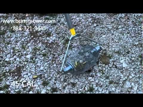Brass Mower™ Demo - Collecting .22 CAL and Shotgun Shells