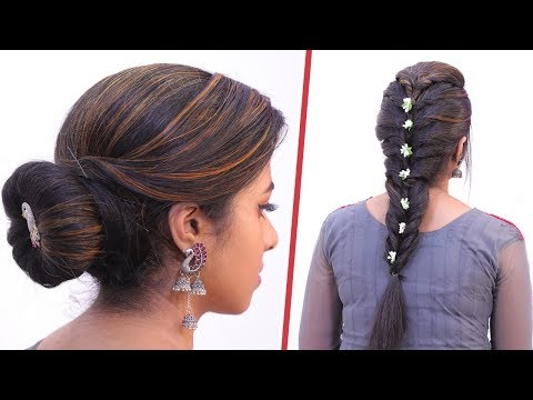 5 Minute Function Hairstyles for Girls! | Twisted Braid | Donut Bun thumbnail