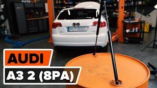 Bagāžnieka Amortizatori uzstādīšana AUDI A3 Sportback (8PA): bezmaksas video