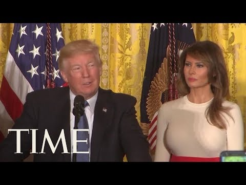 President Trump Adopted Spanish Accent To Say 'Puerto Rico' During Hispanic Heritage Event | TIME