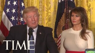 President Trump Adopted Spanish Accent To Say