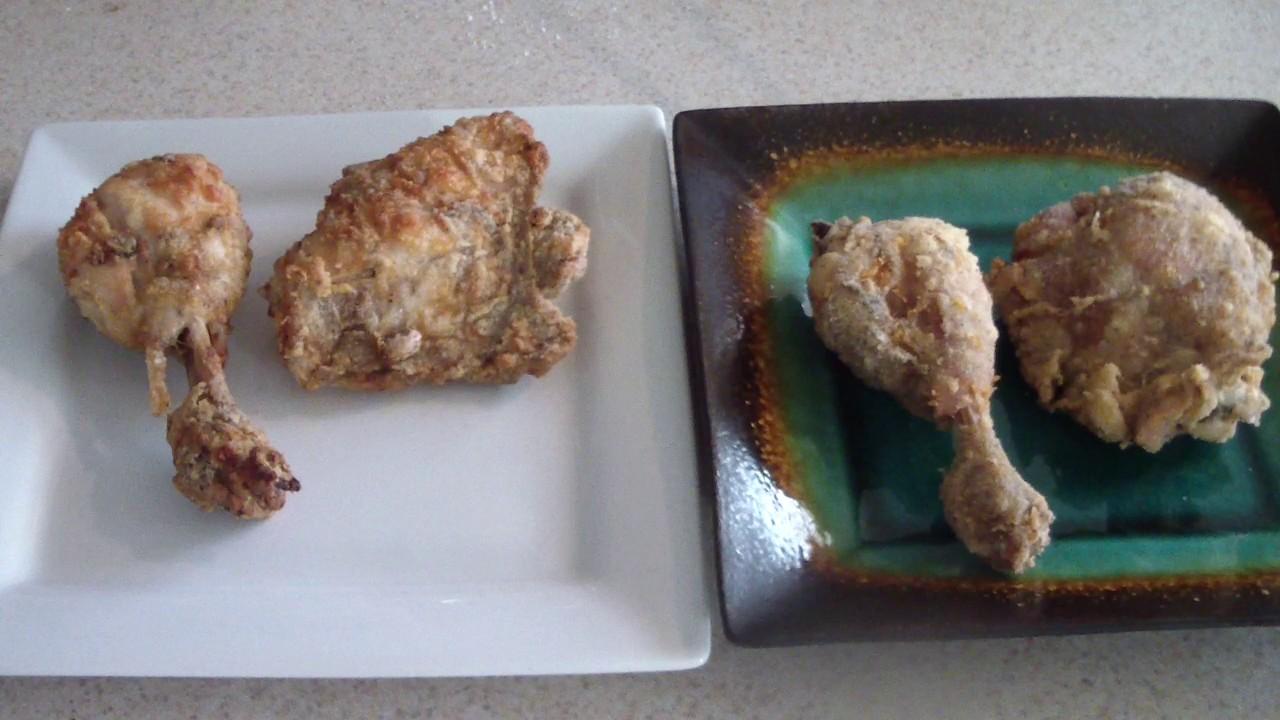 Air Fryer Chicken Vs Deep Fried Pt2 Chicken 5 3qt Airfryer Vs Copper