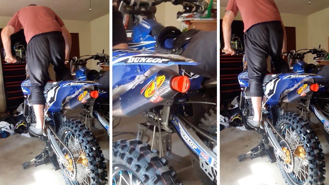 prankster blocks mate s motorbike exhaust with plug